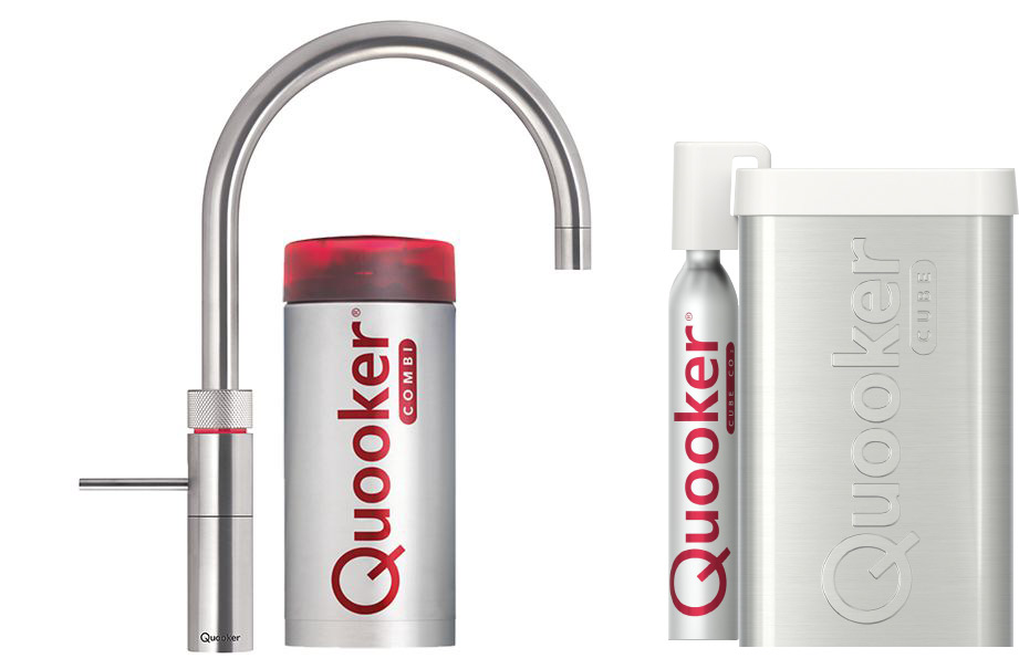 Quooker Cube Fusion Round Roestvrijstaal (RVS) COMBI(+)