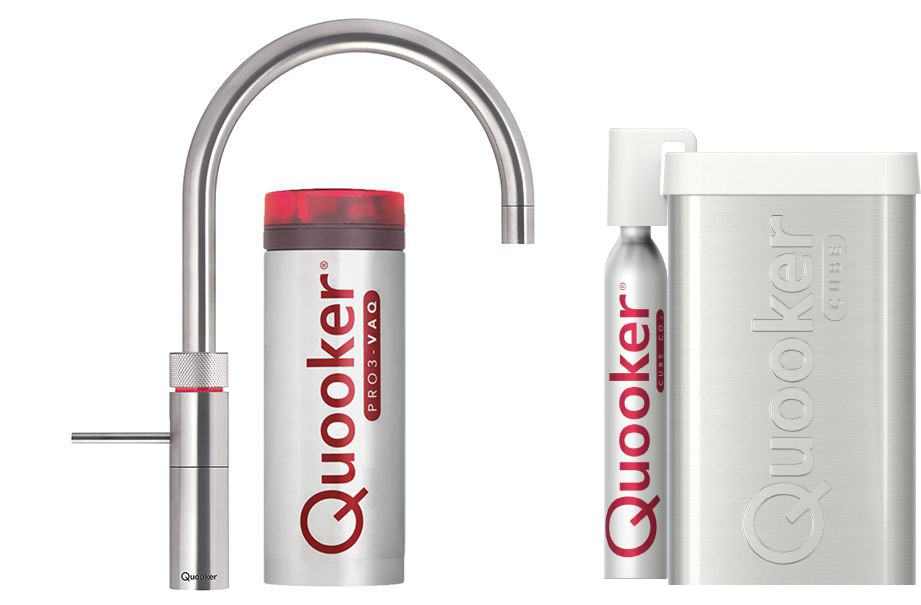 Quooker Cube Fusion Round Roestvrijstaal (RVS) PRO3-VAQ