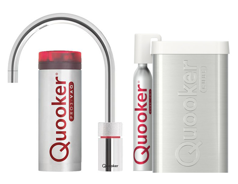 Quooker Cube Nordic Round Single tap chroom PRO3-VAQ reservoir