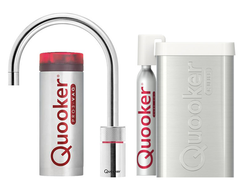 Quooker Cube Nordic Round Single tap Steel pro3-faq reservoir