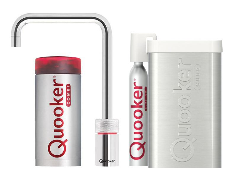 Quooker Cube Nordic Square single tap chroom combi plus
