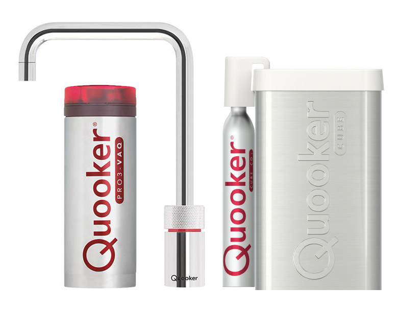 Quooker Cube Nordic Square Single tap chroom PRO3-VAQ reservoir