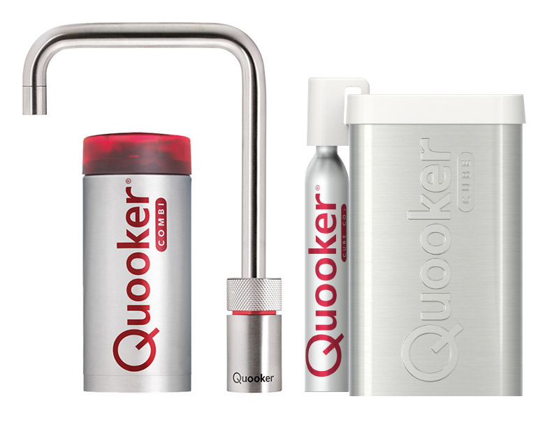 Quooker Cube Nordic Square single tap Roestvrijstaal (RVS) combi plus