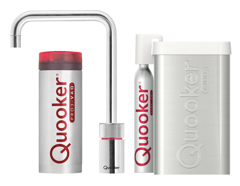 Quooker Cube Nordic Square Single tap Steel pro3-faq reservoir